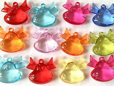 12 MIXED COLOUR PLASTIC HAPPY HIPPO CHARMS JEWELLERY MAKING CRAFTS 30mm CHP0170