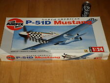 WW#2, NORTH AMERICAN P-51D MUSTANG FIGHTER PLANE, SCALE 1/24 - PLASTIC MODEL KIT