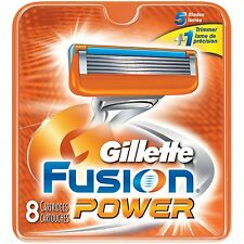 GILLETTE FUSION POWER RAZOR BLADES 8 - 100% GENUINE UK STOCK