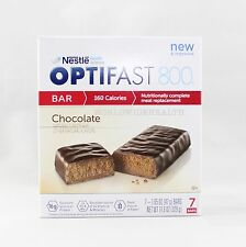 NEW FORMULA | OPTIFAST® 800 MEAL REPLACEMENT BAR | 6 Boxes | Chocolate Bars