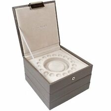 Dulwich Charm Beads Bracelet Stackers Jewellery Box Set Of 3 in Mink Colour
