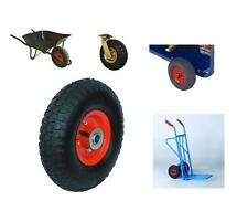 "10"" RED Pneumatic Tyre And Wheel For Sack Truck Trolley Cart Barrow Wheelbarrow"