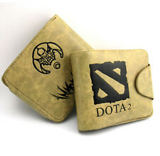 DOTA2 leather bifold Khaki Wallet Men Boy Leisure Short purse free shipping gift