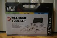 "Master Mechanic 94 Pc 1/4 "" x 3/8"" x 1/2"" Drive Mechanic Tool Set 119004"