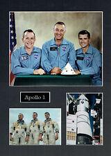 Apollo 1 16x12 Mounted Crew Photo Astronaut Space Montage