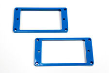 Marcos pastillas humbucker curvados azules - Blue Curved Mounting Rings Set