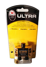 Monster Cable Low Loss RF Splitter for Cable TV & Satellite - 1 in 2 Out - 2 GHz
