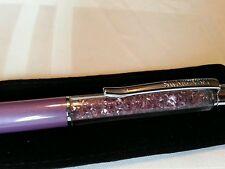 Swarovski Logo Crystal Crystalline Purple Pearl Ballpoint Pen