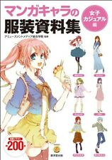 How to Draw Manga Anime Character Girl Casual Clothes Dress Document Book Japan