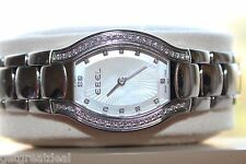 EBEL BELUGA TONNEAU LADY STAINLESS STEEL WATCH 44 DIAMONDS White Mother-of-Pearl