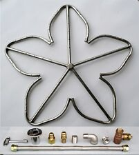 "24"" Stainless Steel Penta Fire Pit Ring Burner w/ Connector Kit (NG Natural Gas)"