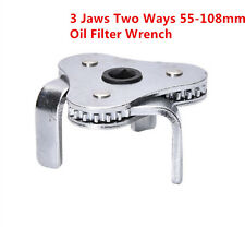 New Two Way Oil Filter Wrench 3 Leg 55-108mm Filters Drive Remover Removal Tool