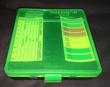 MTM CASE GARD PISTOL RELOADED AMMO BOX P100 45acp 455 AMMUNITION CLEAR GREEN