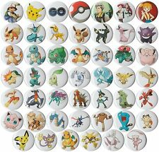 Pokemon set of 48 pins badges buttons Pokemon Go Pikachu team Rocket Misty Poke