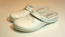 White Leather Men Clog Shoes Closed Toe Hospital Vet BNIB UKSize 10 #115