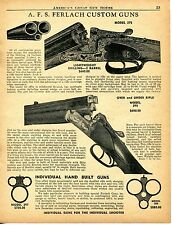 1956 Print Ad of AFS Ferlach Custom Model 275 Lightweight 290 O&U Shotgun Rifle