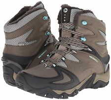Women's Merrell Polarand 8 Waterproof Boulder Leather Size US 10.5 MSRP 175$