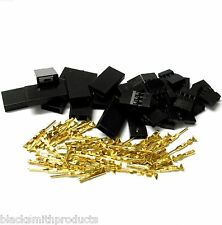 C1001GMF10 RC JR Set Male Female Battery Servo Connector Plug Full Gold 10