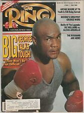 THE RING MAGAZINE GEORGE FOREMAN BOXING HOFer-NEVADA ATHLETIC COMMISION MAY 1990