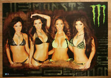 Monster Energy Poster- Bikini Girls Mercedes Magda Erika.. w/an extra poster