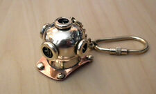 Hand Crafted Solid Brass Divers Diving Helmet Keyring Mark V Nautical key ring