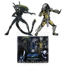 CELTIC PREDATOR vs GRID ALIEN figure AVP 2-PACK xenomorph RIVALRY REBORN neca