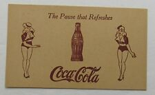"Coca Cola Advertising Post Card ""The Pause That Refreshes"" Unused"
