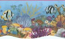 Wallpaper Border Underwater Ocean Sea Life Tropical Fish Die Cut Bottom Edge