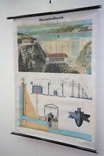 Vecchio Lavagna didattica Centrale idroelettrica Vintage DECORAZIONE