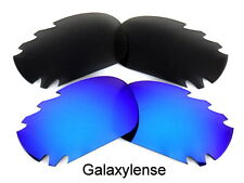 Galaxy Replacement Lenses For Oakley Racing Jacket Black&Blue Polarized 2 Pairs