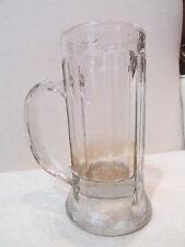 ancienne chope a biere en verre taillé bistrot 1/4 l epoque vers 1910
