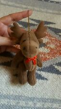 Moose Doll Plush Toy Christmas Tree Hanging Decoration Ornament • Pre-owned
