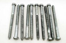 (10) Galvanized Hex Head 3/4 x 10 Lag Bolts Wood Screws