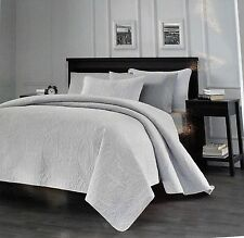 Chezmoi Collection 3 Piece Austin Oversized King Size Bedspread Coverlet Set,