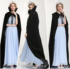 "Unique 71"" Cloak Cape Velvet Satin Poncho Coat Beauty Contest Bridal Costume New"