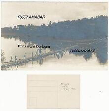 Bei Pritzwalk ? Brandenburg Fluß alte Brücke Soldaten siehe Postkarte 1 WK