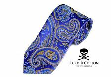 Lord R Colton Masterworks Tie - Ravello Royal Purple Paisley Silk Necktie - New