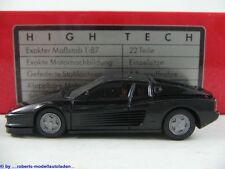 Herpa 2502 Ferrari Testarossa (1984) in schwarz HIGH TECH-Modell1:87/H0 NEU/OVP