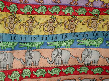 Jungle Time by Lisa Williams Animals in a Row  Fabric  - 1 yard