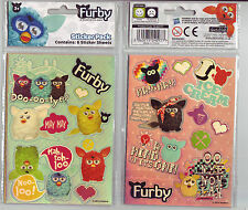 Furby Stickers decoration holographic 6 sheet pack. Brand New