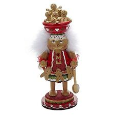 "Kurt Adler 11"" Gingerbread Cookie Bowl Nutcracker"