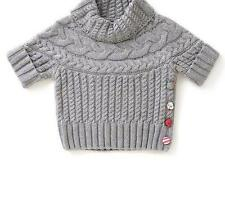 MATILDA JANE Flaxen Reese Crop Sweater Cable Knit Turtle Neck Girls 6 NWT