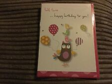 Twit twoo ...happy birthday to you ! Card
