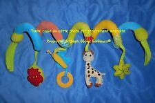Arche jouet POUSSETTE LIT TRANSAT BERCEAU jouet eveil bébé Sophie LA GIRAFE