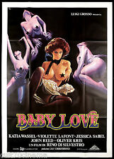 BABY LOVE MANIFESTO CINEMA RINO DI SILVESTRO EROTICO SEXY 1979 MOVIE POSTER 4F
