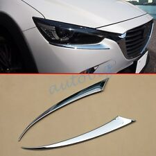 Accessories Head Light Cover For Mazda CX3 2016 CX-3 Headlight Eyelid Trim