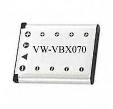 900mAh Battery for Panasonic VW-VBX070 VW-VBX070E VW-VBX070E-W VWVBX070