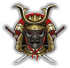 Samurai Mask Katana Car Bumper Sticker Decal 5'' x 5''