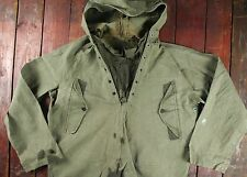 WWII WW2 40s US NAVY WET FOUL WEATHER SMOCK DECK PARKA JACKET USN MEDIUM