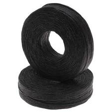 Waxed Irish Linen Necklace Or Knotting Cord 1mm Black 50 Yard (1 Spool)